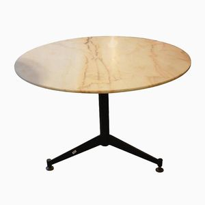 Italian Pink Marble Cocktail Table, 1960s