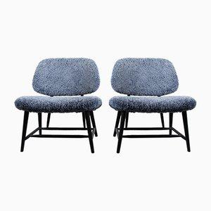 Vintage Te-Ve Stühle von Alf Svensson für Ljungs Industrier, 2er Set