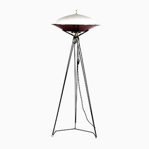 Lámpara de pie italiana con trípode, años 60
