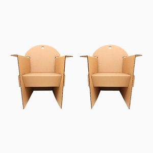 T.4.1 Cardboard Armchairs by Olivier Leblois for Quart de Poil, 1993, Set of 2