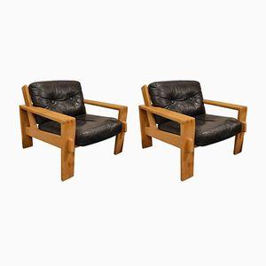 Bonanzo Lounge Armchairs by Esko Pajamas for Asko, 1960s, Set of 2
