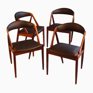 Model 31 Rosewood Dining Chairs by Kai Kristiansen for Schou Andersen, 1960s, Set of 4