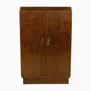 Art Deco Amsterdam School Burlwood Armoire by 't Woonhuys Amsterdam