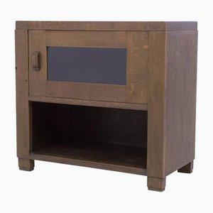 Mueble para el té de la Escuela de La Haya Art Déco de roble de Frits Spanjaard para L.O.V, años 20