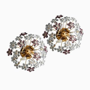 Flower Ceiling Lamps by Christoph Palme, Set of 2