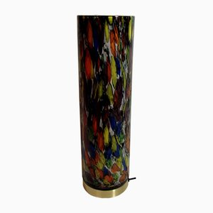 Lámpara italiana multicolor de vidrio, años 80