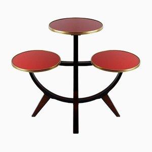 Support Pour Plantes ou Table d'Appoint Vintage à Trois Etages, Allemagne, 1950s