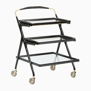 Three Tier Bar Cart by Cesare Lacca for Cassina
