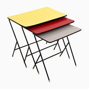 Tavolini a incastro Mid-Century moderni di Pilastro, anni '60