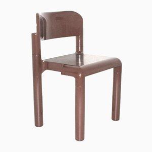 Silla de plástico marrón de Eerio Aarnio para UPO Furniture, años 70