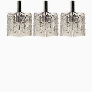 Lámparas colgantes Mid-Century moderna de Kinkeldey, 1967. Juego de 3