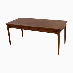 Danish Mid-Century Extendable Teak Coffee Table, 1960s