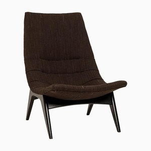 Brown Mid-Century Lounge Chair