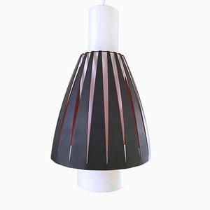 Lámpara colgante Mid-Century de vidrio y metal de Jo Hammerborg