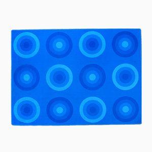 Blauer Vintage Teppich von Verner Panton für Mira-X