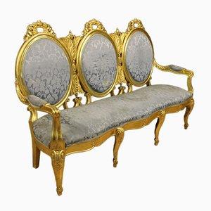 Italian Vintage Golden Sofa, 1950s