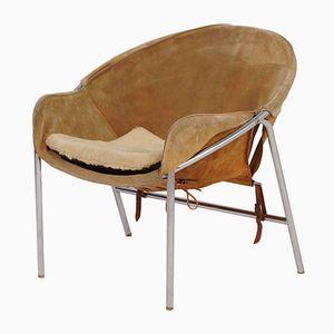 Hellbrauner Wildleder Sling Chair von Erik Jørgensen für Bovirke, 1950er