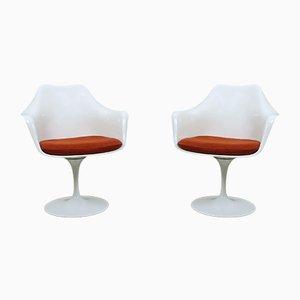 Amerikanische Vintage Tulip Armlehnstühle von Eero Saarinen für Knoll International, 1950er, 2er Set