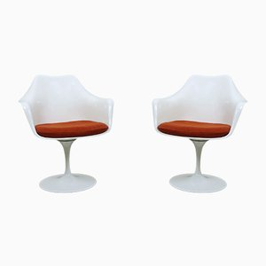 Butacas Tulip estadounidenses de Eero Saarinen para Knoll International, años 50. Juego de 2