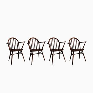Vintage Elm Dining Chairs by Lucian Ercolani for Ercol, Set of 4