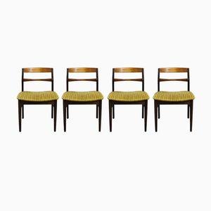Sillas de comedor de palisandro de Arne Vodder para Sibast Furniture, años 60. Juego de 4
