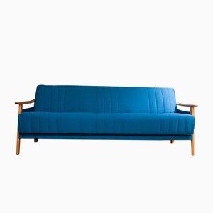 Sofá cama en azul cobalto, años 60