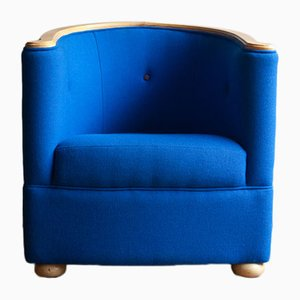 Cobalt Blue Tub Chair, 1980s