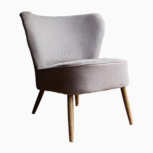 Silla cóctel gris, años 60