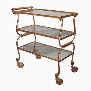 Vintage French Golden Iron Trolley, 1940
