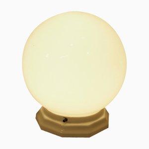 Französische Art Deco Opalglas Tischlampe