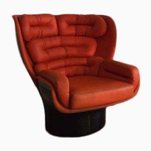 Fauteuil Orange Elda par Joe Columbo pour Comfort, 1960s