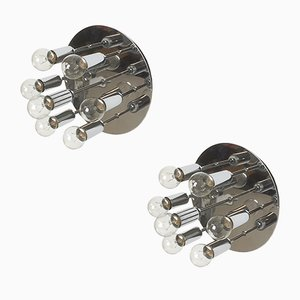 Modernist Chrome Wall or Ceiling Lights from Cosack Lights, 1970s, Set of 2
