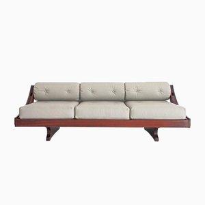Vintage Model GS-195 Leather Sofa by Gianni Songia for Luigi Sormani