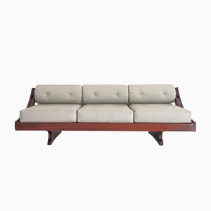 Vintage Model GS-195 Leather Sofa by Gianni Songia for Sormani