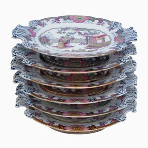 Antique Presentation Plates from Boch Freres Keramis, Set of 6