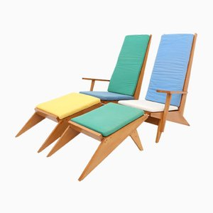 Vintage Italian Swimming Pool Lounge Chairs, 1970s