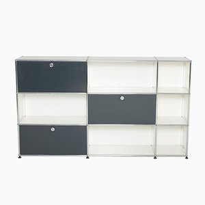 Vintage Cabinet in White and Grey from USM Haller