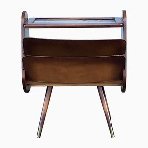 Vintage German Side Table with Magazine Rack, 1960s
