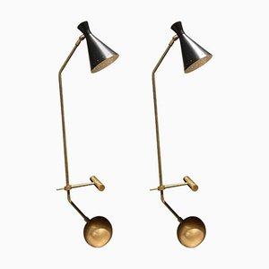 Lámparas de mesa Libra-Lux vintage de Lamberti & Co. Juego de 2