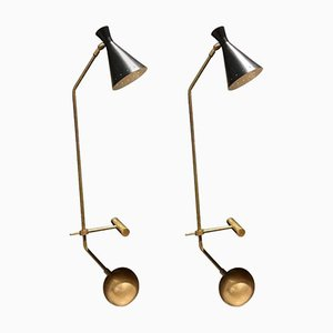 Vintage Libra-Lux Tischlampen von Lamberti & Co, 2er Set