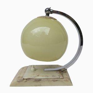 Lámpara de mesita de noche Art Déco vintage con baquelita