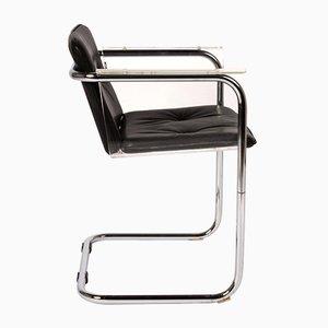 Silla Cantilever modernista de cuero y plexiglás de Hans Könecke para Tecta, años 60