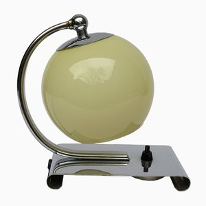 Vintage Art Deco Chromed Bedside Table Lamp