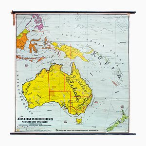 Wall Chart of Australia from Dr. Jensen, 1952