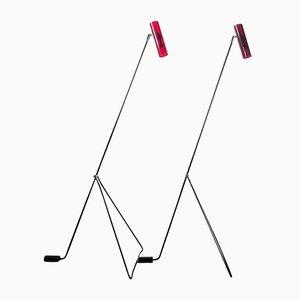 Lampadaires Mid-Century Modernes Rouge de Bergbom Scanlight, Set de 2
