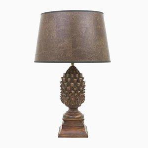 Lámpara de mesa vintage con forma de piña
