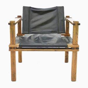 Safari Sessel aus Eiche & Leder von Gerd Lange für Bofinger