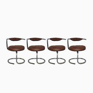 Chaises de Salle à Manger Modèle Cobra par Giotto Stoppino, Set de 4