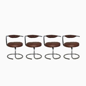 Model Cobra Dining Chairs by Giotto Stoppino, Set of 4