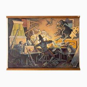 Póster del cuento de hadas Los músicos de Bremen de Franz Wacik, 1929